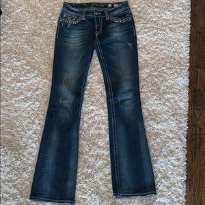 Women's Size 29 Miss Me Jeweled Boot Cut Jeans